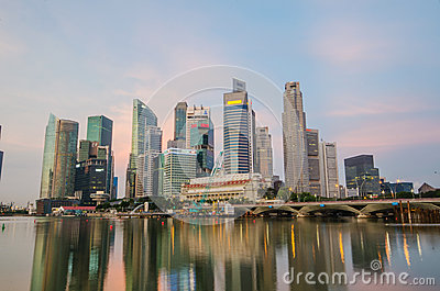 Singapore city skyline view of business district Editorial Image