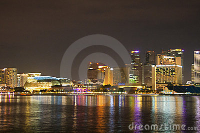 Singapore city skylines at night