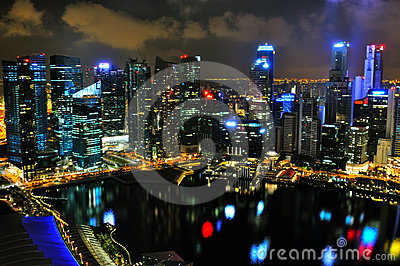 Singapore Cityscape 2 Editorial Photography