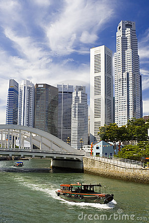 Free Singapore Cityscape Royalty Free Stock Image - 2615716