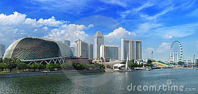 Singapore cityscape at Marina bay