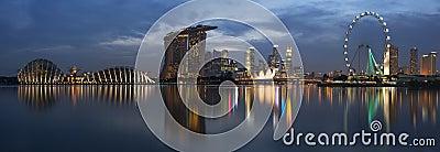 Singapore Cityscape Panorama Editorial Stock Image