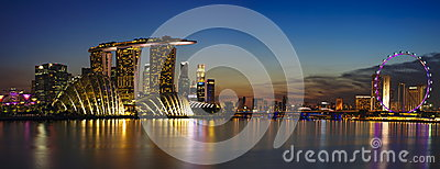 Singapore Cityscape Editorial Stock Image