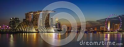 Singapore Cityscape Editorial Stock Image