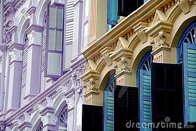 Singapore: Colourful Chinatown Shop Houses
