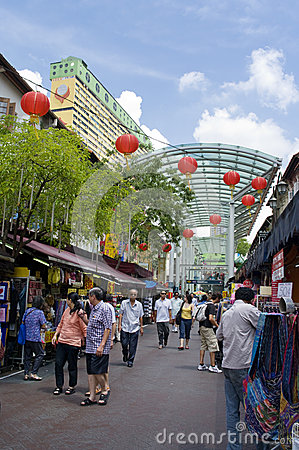 O Chinatown de Singapore Foto de Stock Editorial