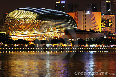 Singapore Esplanade Picture on Royalty Free Stock Photo  Singapore Esplanade  Image  11092115
