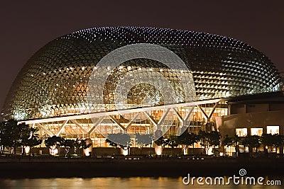Singapore Esplanade Theater at night