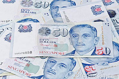 Singapore fifty dollar bills