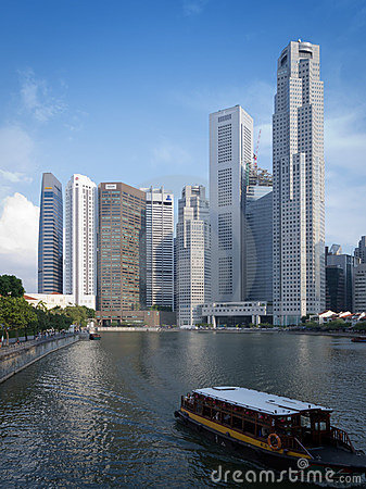 Singapore financial centre Editorial Image