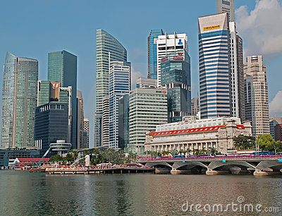 Singapore Financial District Editorial Image