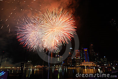 Singapore Fireworks Festival celebration Editorial Photo