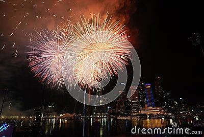 Singapore Fireworks Festival celebration Editorial Photo