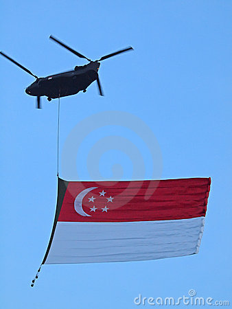 Singapore Flag Editorial Stock Image