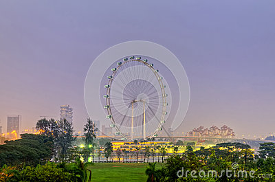 Singapore Flyer Editorial Photography