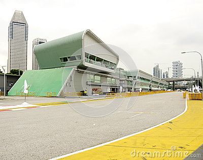 Singapore Formula One Pit Lane Boxes Editorial Stock Image