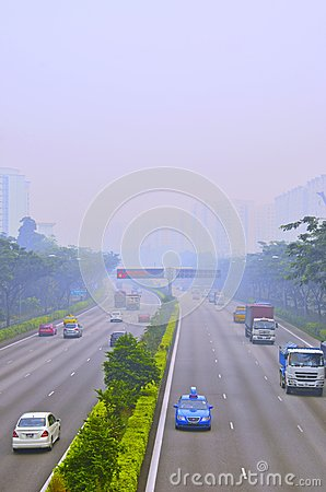 Singapore Haze Editorial Stock Image