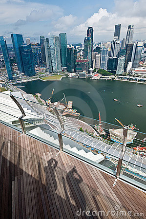 Singapore horisont Redaktionell Arkivfoto