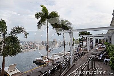 Marina Bay Sands Pool Editorial Stock Image Image 29746674