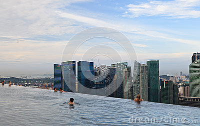 Marina Bay Sands Pool Editorial Photography Image 30009342