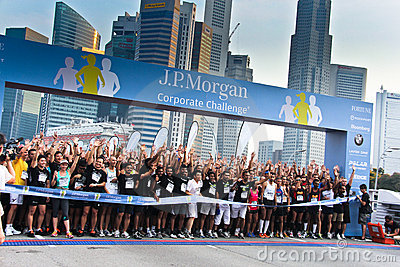 Singapore JP Morgan Corporate Challenge 2011 Editorial Photography