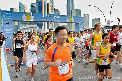 Singapore JP Morgan Corporate Challenge 2011 Editorial Photo