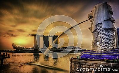 Singapore landmark Merlion