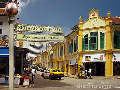 Singapore - Little India District Editorial Image