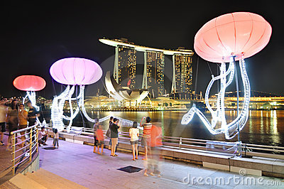 Singapore Marina Bay Editorial Photo