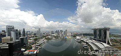 Singapore Marina Bay Editorial Photography