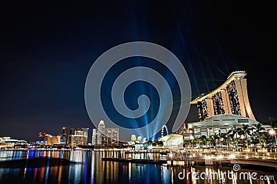 Singapore Marina Bay Sands Editorial Photo
