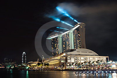 Singapore Marina Bay Sands Hotel Resort Editorial Stock Photo