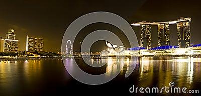 Singapore Marina Bay Sands panorama