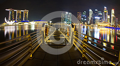 Singapore marina at night