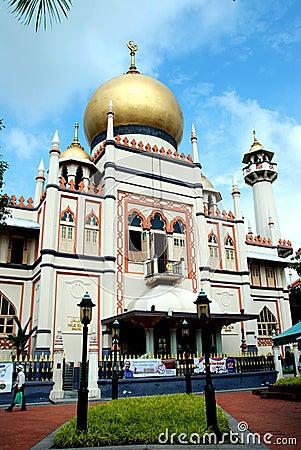 Singapore: Masjid Sultan Singapura Mosque Editorial Photo
