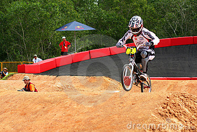 Singapore Mountain Bike Carnival 2010 BMX race Editorial Image