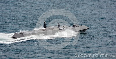Singapore Navy's new high speed naval interceptor Stock Photo