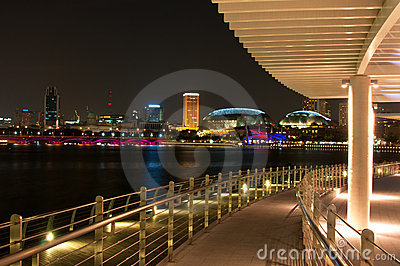 Singapore Night Editorial Image