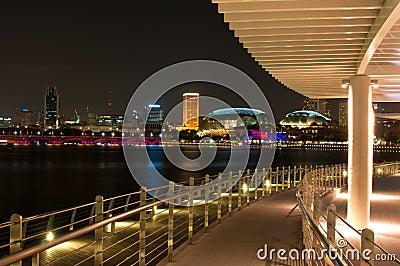 Singapore Night Editorial Image