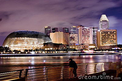 Singapore Night Scence