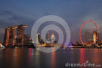 Singapore Night Scenery