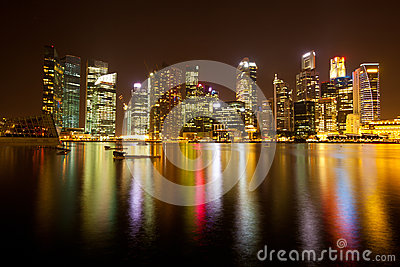 Singapore in the night time