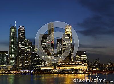 Singapore Nite Landscape 2 Editorial Photo