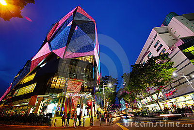 Singapore Orchard Road Editorial Photography