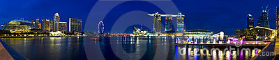 Singapore Panorama Editorial Photography