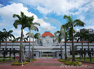 Singapore Parliament Editorial Stock Image