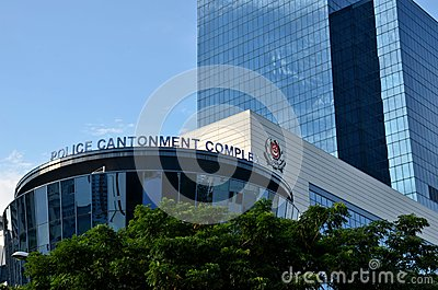 Singapore Police Force Cantonment Complex building Editorial Stock Image