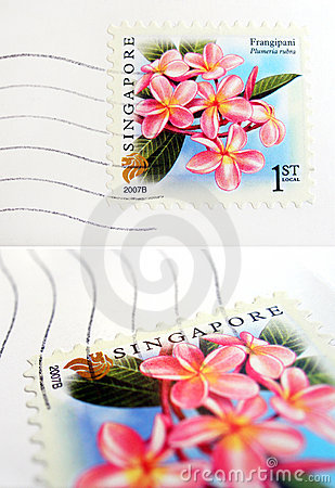 Free Singapore Postage Stamp Royalty Free Stock Photography - 6082887