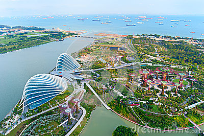 Gardens by the Bay bird s eye view