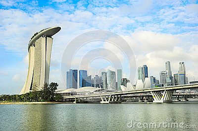 Singapore panorama Editorial Image